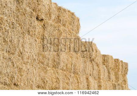 Straw Bales Horizontal