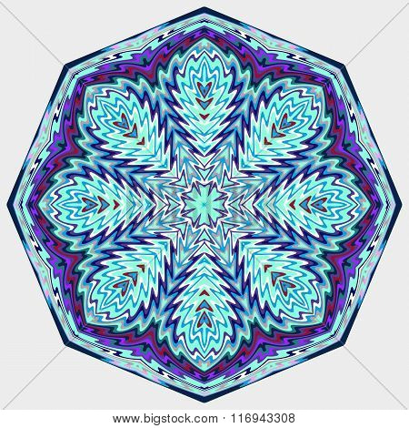Mandala. Round vector ornament.