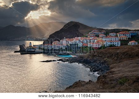 Madeira island, Portugal, Europe, sunset in Canical