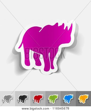 realistic design element. rhino
