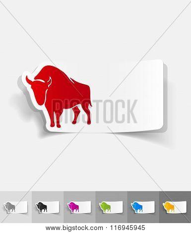 realistic design element. aurochs