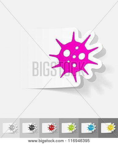 realistic design element. virus