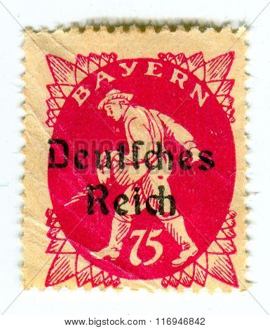 GOMEL,BELARUS - CIRCA FEBRUARY 2016: A stamp printed in Germany shows image of the Germany sower, circa 1933.