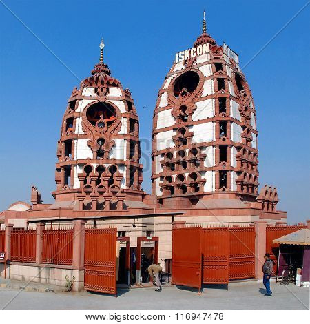 Delhi. Iskon Temple. The main Krishna temple.