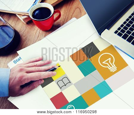 Ideas Creativity Inspiration Connection Communication Concept