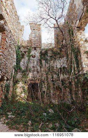Ruins Of St John Castle (xv C.) In Kotor, Montenegro