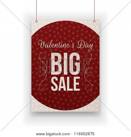 Valentines Day big Sale hanging paper Sheet