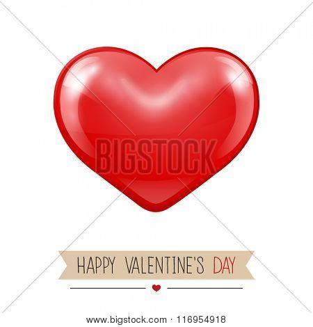 Valentines greeting card.Vector illustration
