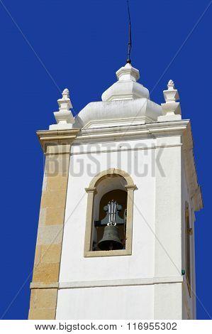 Albufeira old town church bell tower Igreja Matriz
