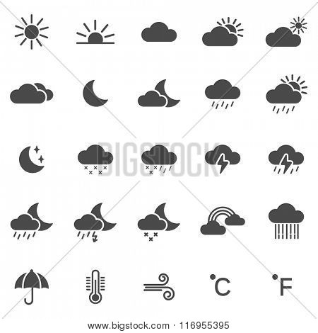 Weather icons set.Vector