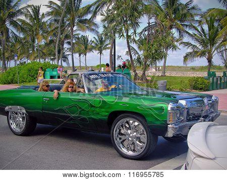 Flashy Elaborate Convertible Car