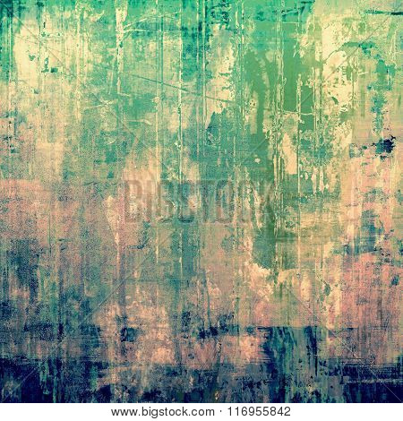 Grunge texture, may be used as retro-style background. With different color patterns: yellow (beige); blue; green; cyan; pink