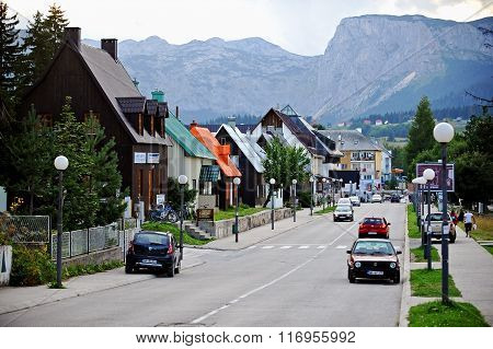 Day Scene In Mountain Town Of Zabljak