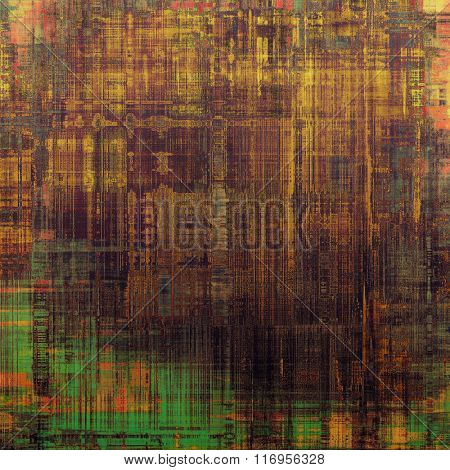Background in grunge style. With different color patterns: yellow (beige); brown; red (orange); green; gray