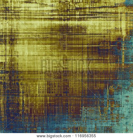 Abstract textured background designed in grunge style. With different color patterns: yellow (beige); brown; blue; cyan; gray