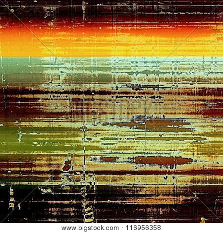 Old scratched retro-style background. With different color patterns: yellow (beige); brown; red (orange); black; green