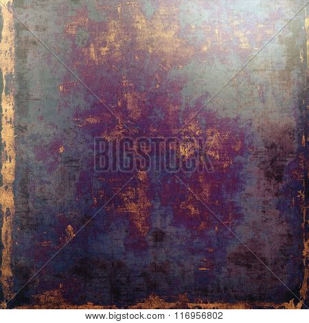 Grunge retro vintage texture, old background. With different color patterns: yellow (beige); brown; black; blue; purple (violet)