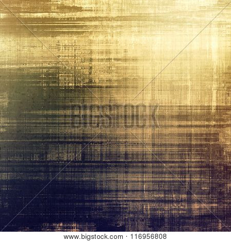 Abstract grunge textured background. With different color patterns: yellow (beige); brown; blue; gray