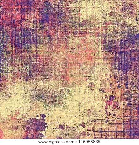 Old abstract grunge background, aged retro texture. With different color patterns: yellow (beige); brown; red (orange); purple (violet); pink