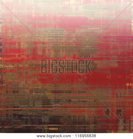 Abstract textured background designed in grunge style. With different color patterns: brown; red (orange); gray; pink