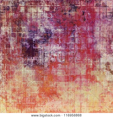 Grunge retro vintage textured background. With different color patterns: yellow (beige); brown; red (orange); purple (violet); pink