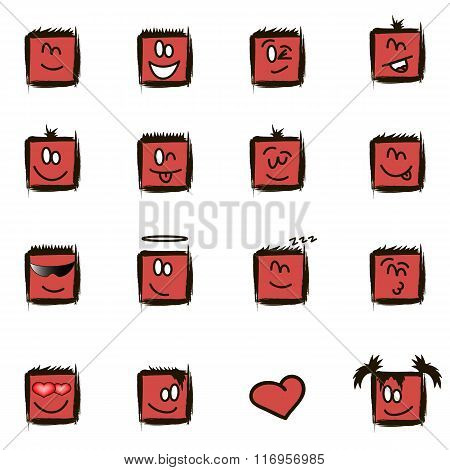 Positive Square Smilies