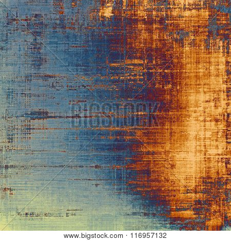 Abstract grunge textured background. With different color patterns: yellow (beige); brown; red (orange); blue; cyan