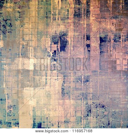 Grunge texture, may be used as retro-style background. With different color patterns: yellow (beige); brown; blue; green; pink