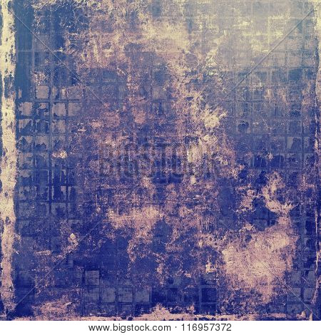 Vintage texture with space for text or image, grunge background. With different color patterns: yellow (beige); blue; purple (violet); gray; pink