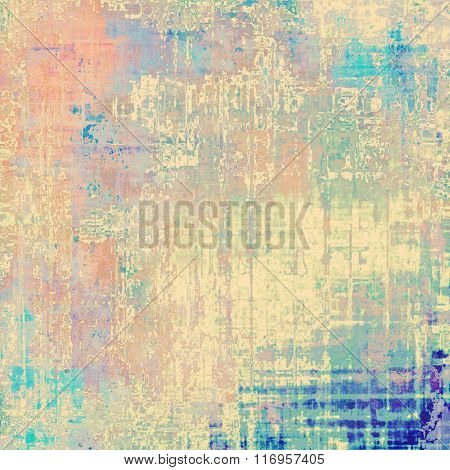 Old background with delicate abstract texture. With different color patterns: yellow (beige); brown; red (orange); blue; pink