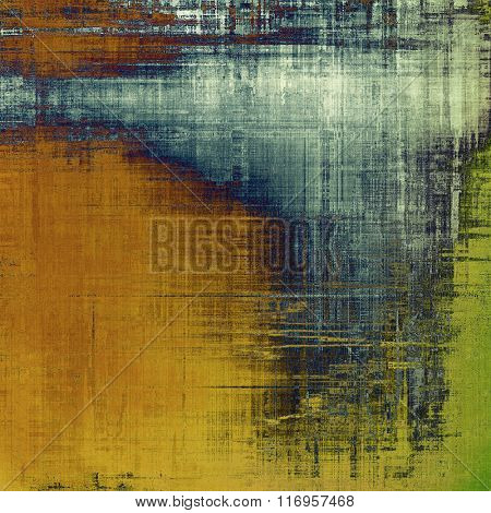 Abstract blank grunge background, old texture with stains and different color patterns: yellow (beige); brown; blue; green; gray