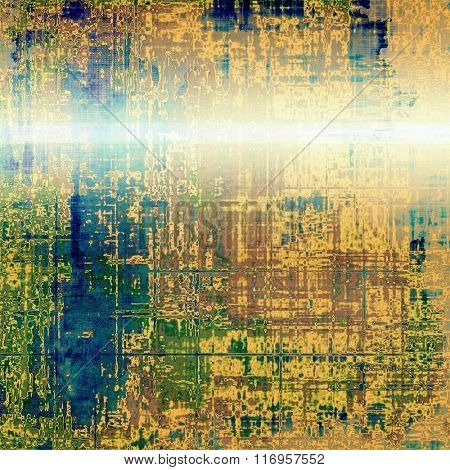 Background in grunge style. With different color patterns: yellow (beige); brown; white; blue; green
