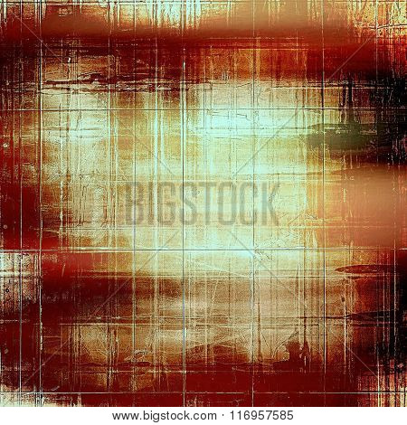 Old antique texture or background. With different color patterns: yellow (beige); brown; red (orange); white; black