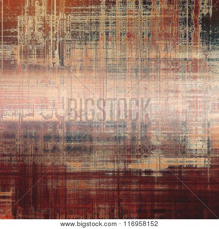 Grunge retro vintage textured background. With different color patterns: yellow (beige); brown; red (orange); black; pink