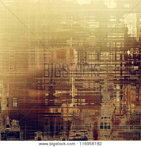 Old abstract grunge background, aged retro texture. With different color patterns: yellow (beige); brown; black; gray