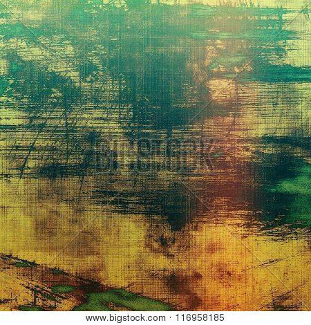 Old antique texture or background. With different color patterns: yellow (beige); brown; green; gray