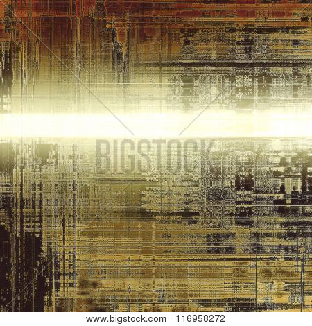 Background with grunge stains. With different color patterns: yellow (beige); brown; white; black; gray
