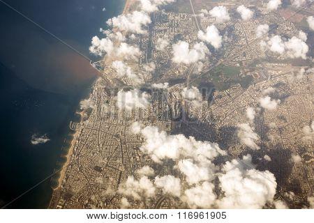 Tel Aviv Seen From Above, Main City Of Israel