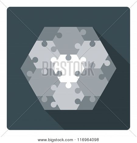 Hexagon puzzle - 13 parts