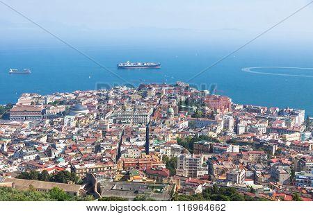 Naples City And Gulf Of Naples, Campania Region, Italy
