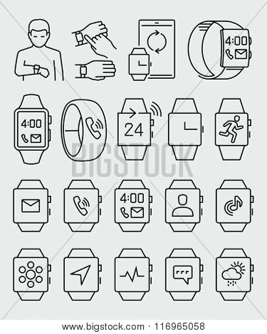 Smart Watch Vector Icons