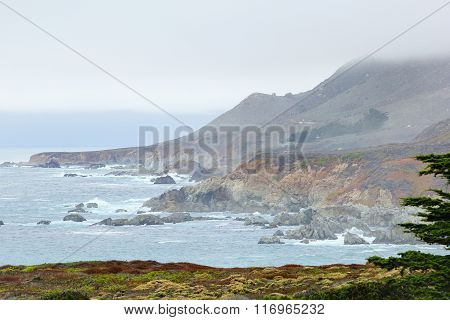 beautiful scenic from Big Sur, Highway 1, California, USA