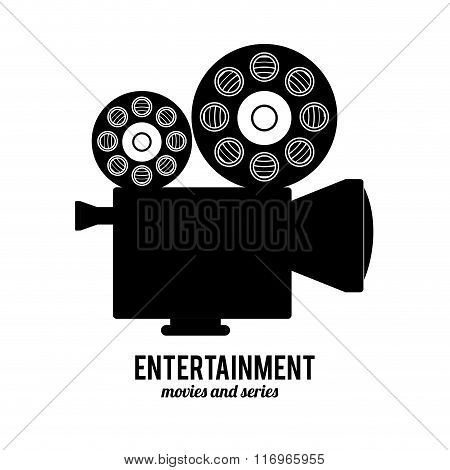entertainments icons design