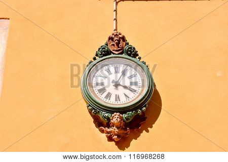 Famous Venice Italian City clock