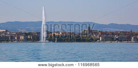 Geneva Fountain Panoramic