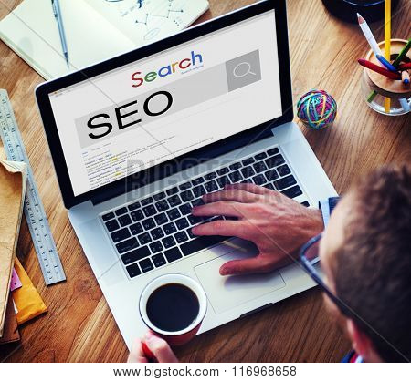 SEO Search Engine Optimization Business Marketing Concept