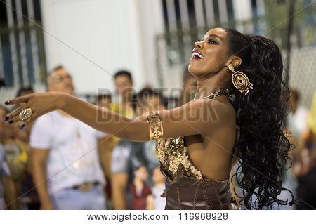 RIO DE JANEIRO Brazil - January 24 2016: School of samba Unidos da Tijuca during essay technician in
