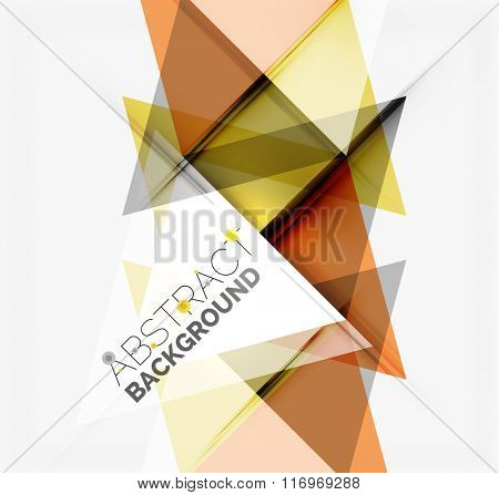 Minimalistic geometric background