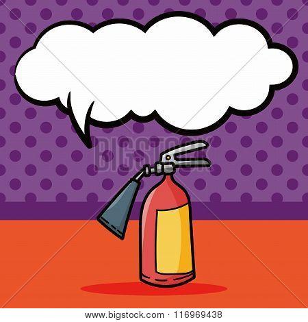 Fire Extinguisher Color Doodle