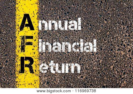 Business Acronym Afr Annual Financial Return